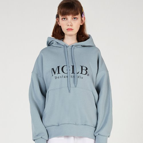 MG0S NATURE BIG LOGO HOOD (BLUE)