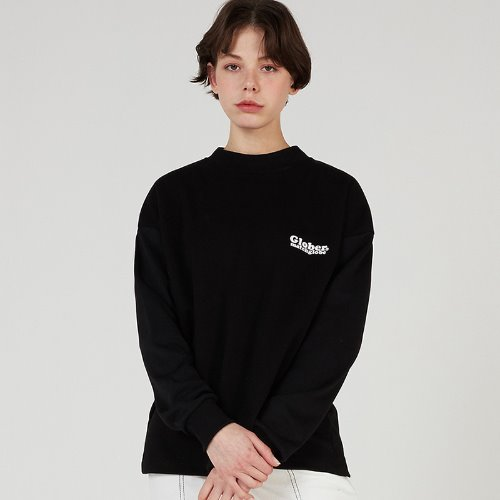MG0S GLOBER HALF NECK TEE (BLACK)