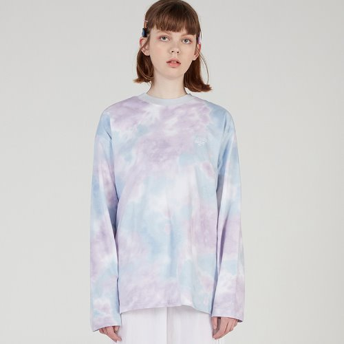 MG0S TIE DYE LONG SLEEVE TEE (SKY BLUE)