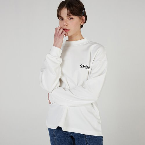 MG0S GLOBER HALF NECK TEE (WHITE)
