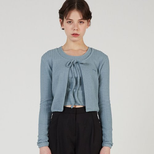 MG0S TWISTED JACGUARD CARDIGAN (SKY BLUE)