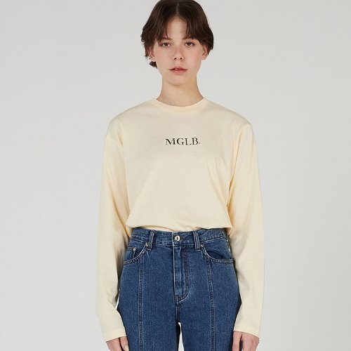 MG0S BASIC PASTEL COLOR TEE (LIGHT YELLOW)