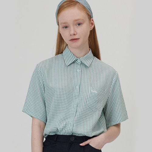 MG0S HALF SLEEVE CHECK SHIRTS (MINT)