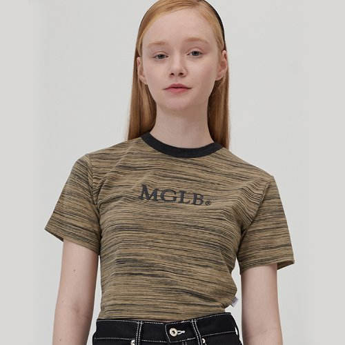 MG0S COLOR LINE CROP TEE (BROWN)