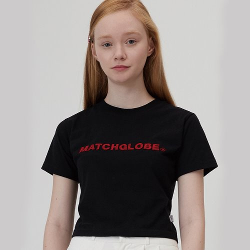 MG0S EMBO EMBROIDERY CROP TEE (BLACK)