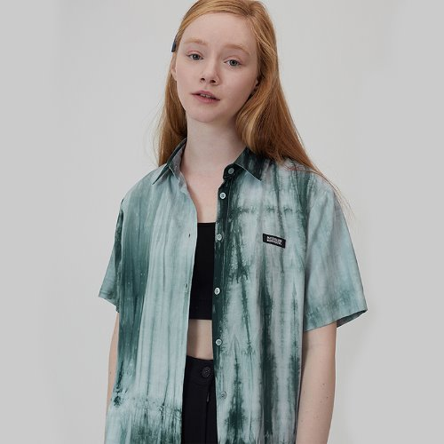 MG0S PRINT SHORTS SLEEVE SHIRT (GREEN)