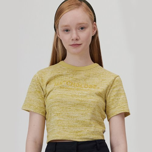 MG0S SLUB CROP TEE (YELLOW)