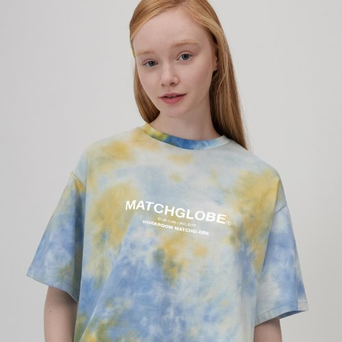 [리퍼브] MG0S TIE DYE BOX LOGO TEE (GREEN)