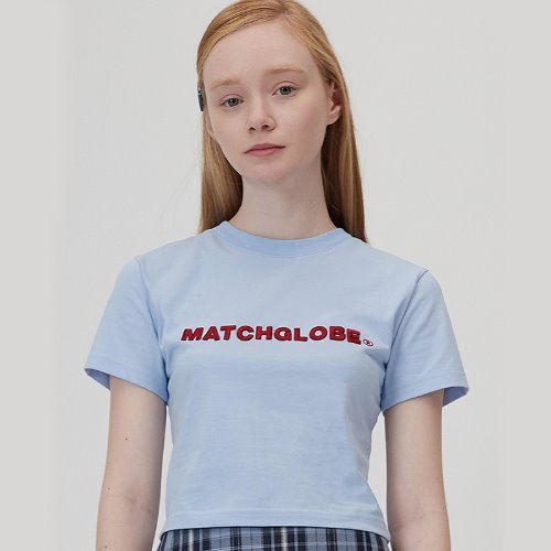 MG0S EMBO EMBROIDERY CROP TEE (BLUE)