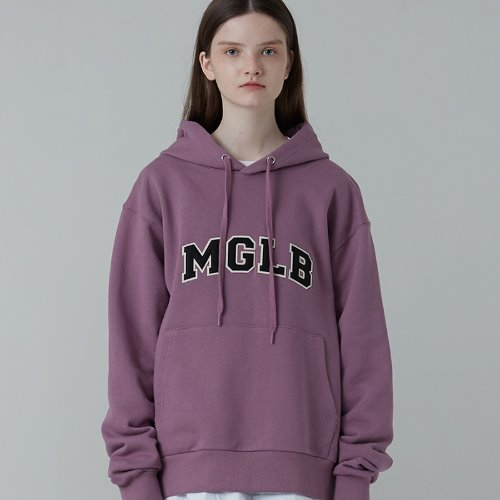 MG0F APLIQUE LOGO HOOD (PURPLE)