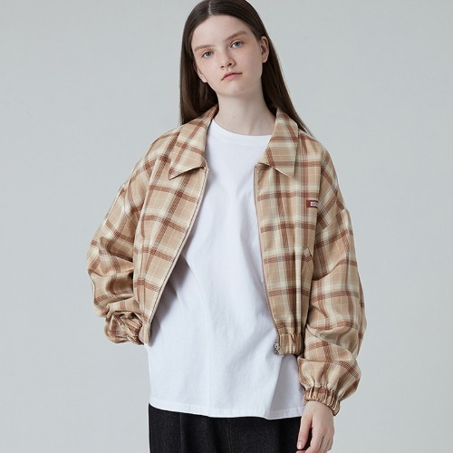 MG0F CHECK POINT BANDING JUMPER (BEIGE)