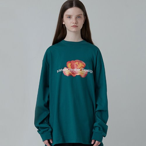 MG0F FLOWER TEE (BLUE GREEN)