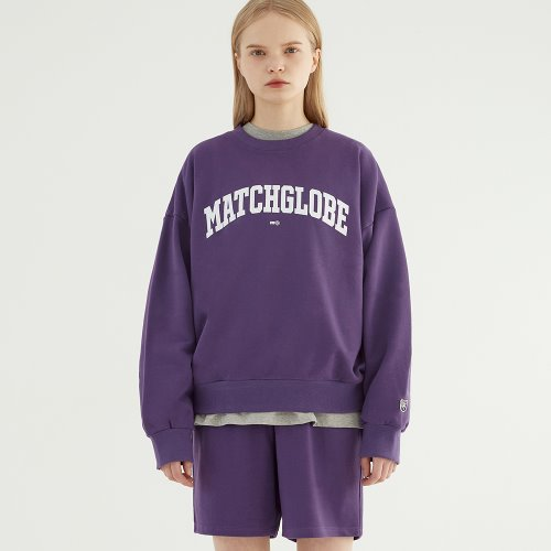 UNIVERSITY ARCH LOGO SWEAT SETUP (PURPLE)