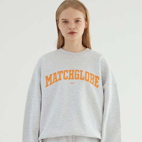 UNIVERSITY ARCH LOGO SWEATSHIRT (OATMEAL)