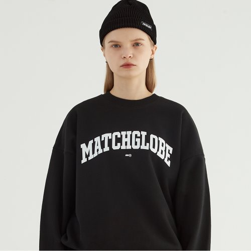 UNIVERSITY ARCH LOGO SWEATSHIRT (BLACK)