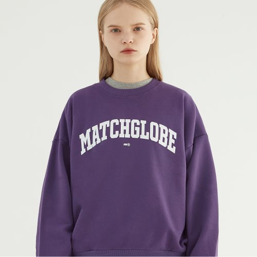 UNIVERSITY ARCH LOGO SWEATSHIRT (PURPLE)